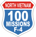 100 Missions F-4  Decal