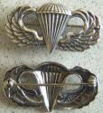 WWII Paratrooper Sterling Silver pin back