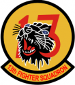 13th Tactical Fighter Squadron Decal