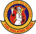 USMC 1st Battalion, 9th Marines Walking Dead Decal