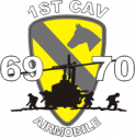 1st Cavalry Air Mobile 1969 -1970 Decal