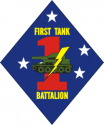 1st Tank Battalion Decal