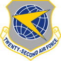 22nd Air Force Squadron Decal
