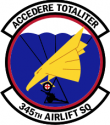 345th Airlift Squadron  Decal