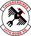 34th Bomb Squadron Decal
