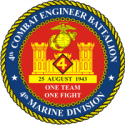 4th Engineer Bn Decal