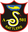 Company A 501st Aviation BN Rattlers Decal