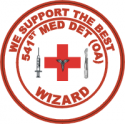 541st Med Det Wizards - 1 Decal