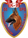 56th Security Police Squadron K-9 Decal