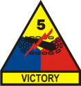 5th Armored Div Decal