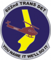 602nd Trans Det  Decal