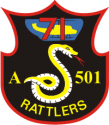 71st AHC Rattlers  Decal