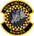 89th Airlift Squadron Decal