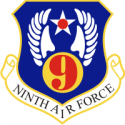 9th Air Force Decal