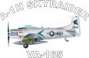 Douglas A-1H SkyRaider VA-165  Decal