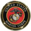 United States Marine Corps Eagle Globe and Anchor Auto Chrome Emblem