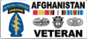 Special Forces Afghanistan Veteran 2 (In White Box) Decal