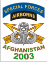 Special Forces Afghanistan Veteran 2003 (In White Box) Decal