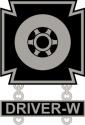 Army Driver Wheeled Vehicle Badge Decal