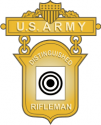 Army Distinguished Rifleman Badge Decal