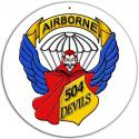 504TH PARACHUTE INFANTRY REGIMENT SIGN