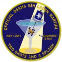 The Official Osama Bin Laden Martini all Metal Sign.