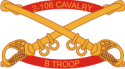 B Troop 2-106 Cavalry - 2 Decal