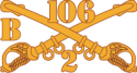B Troop 2-106 Cavalry  Decal