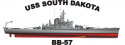 Battleship BB South Dakota Class