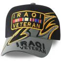 Iraqi Veteran with Ribbon Multi-Position Direct Embroidered Shark Fin Ball Cap