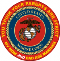 Both Parents Marines Decal
