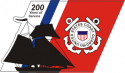 US Coast Guard 200 Years Decal