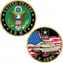Army Challenge Coin With Tank