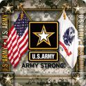 Army Star Crossed Flag 4 Inch Coasters 6 Pack
