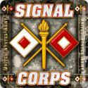 Army Signal Corps  4 Inch Coasters 6 Pack