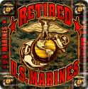US Marines Retired 4 Inch Coasters 6 Pack
