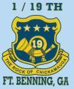 1/19 Ft. Benning, GA 3.25″x4.25″ Decal