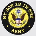 My Son is in the Army with Crest Logo Decal