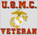 USMC Veteran with Eagle Globe and Anchor Logo Decal