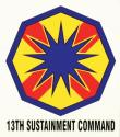 Army 13th Sustainment Command Decal