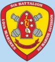 5TH BATTALION 10TH MARINE PAIN BY STEEL RAIN DECAL