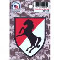 11th Armored Cavalry (Black Horse) 4 Color Process Decal