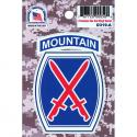 10th Mountain Division 4 Color Process Decal