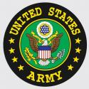 United States Army with Crest Logo Decal