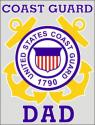US Coast Guard Dad Decal