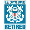 Coast Guard Retired Bold Type Decal