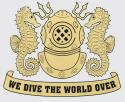 Navy Diver Helmet Gold Decal