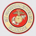 My Granddaughter is a Marine with Eagle Globe and Anchor Logo Decal