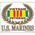 Vietnam VETERAN (USMC) Decal