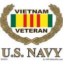 Vietnam VETERAN (Navy) Decal